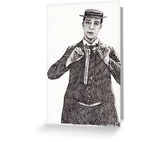 'Buster Keaton' Greeting Card