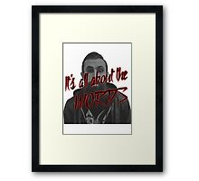 Scroobius Pip - It's all about the words print Framed Print