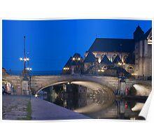 St. Michael's Bridge, Ghent, Belgium Poster