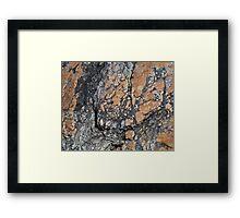 Quartz Terrain Framed Print