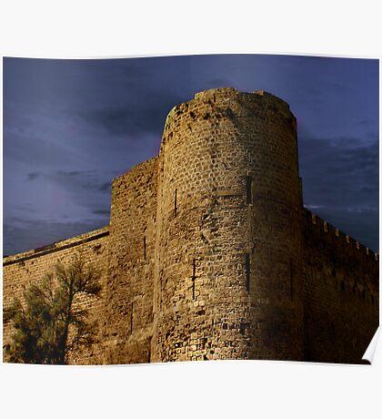 Castle at Dusk Poster