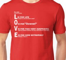 Love, L-O-V-E Love / TV / Friends *Updated Version* Unisex T-Shirt