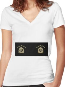 EMAIL MY ♥ MUG Women's Fitted V-Neck T-Shirt