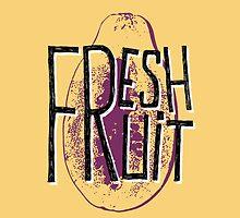 Mango fresh fruit illustration by ONiONAstudio