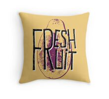 Mango fresh fruit illustration Throw Pillow