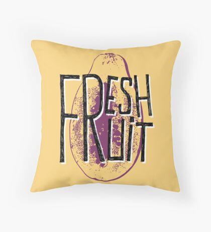Mango fresh fruit illustration Throw Pillow