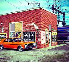 Orange Ford XW by John Jovic