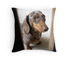 Brown Eyed Beauty Throw Pillow