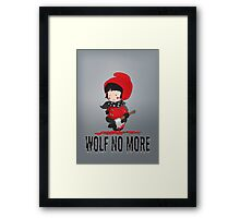 Wolf No More.Little Red Riding Hood Framed Print