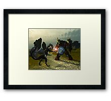 Warriors Of Darkness Framed Print