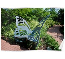 Butterfly bench Poster