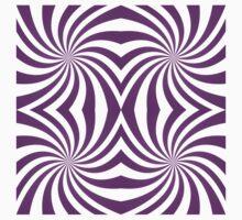 Purple symmetrical swirl pattern One Piece - Short Sleeve
