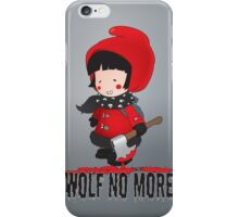 Wolf No More.Little Red Riding Hood iPhone Case/Skin