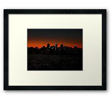 North Sydney (Gotham city?) Framed Print