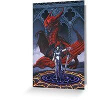 Akasha and the Blood Dragon Greeting Card