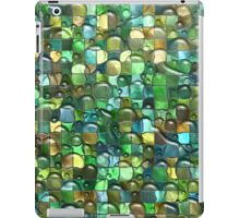 Wet Water Green Yellow Square Tile Mosaic Pattern iPad Case/Skin