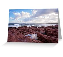 Red Rocks of Bar Beach  Greeting Card