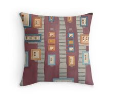 Frames on Purple Throw Pillow