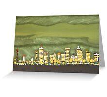 Green Night (painting) Greeting Card