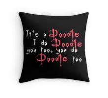 It's a doodle ... Willow - Black Throw Pillow