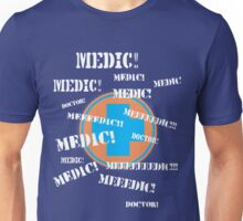 Press 'E' For Medic- BLU Unisex T-Shirt