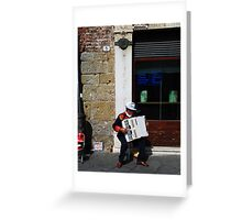 Street Musician Lucca, Italy Greeting Card