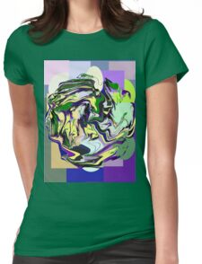 Caution: Wet Paint! abstract Womens Fitted T-Shirt
