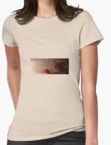 Rose and petal Womens Fitted T-Shirt