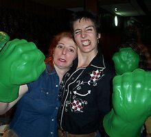 Trish and Sarah with Hulk Hands by TimChuma