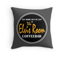 Elvis Room Shirt - Elvis Room - Portsmouth, NH Throw Pillow