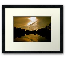 Warm Clouds in the Water Framed Print
