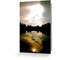 Sun in the Water Greeting Card