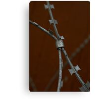 Razor Wire Canvas Print