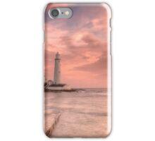 """Salmon Sky around St. Mary's"" iPhone Case/Skin"
