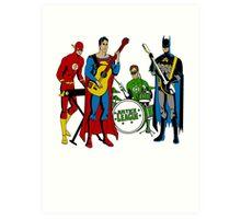 Justice League Rock Band T-Shirt Art Print