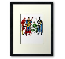 Justice League Rock Band T-Shirt Framed Print