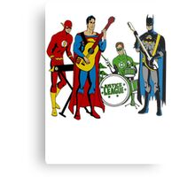 Justice League Rock Band T-Shirt Metal Print