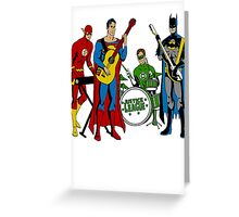 Justice League Rock Band T-Shirt Greeting Card