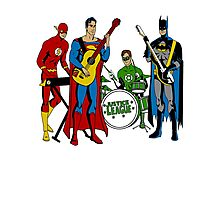 Justice League Rock Band T-Shirt Photographic Print