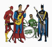 Justice League Rock Band T-Shirt by Cinemadelic