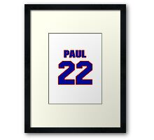 National baseball player Paul Casanova jersey 22 Framed Print