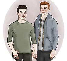 Ian Gallagher/Mickey Milkovich by vulcains