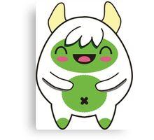 Cute Green Yeti Canvas Print