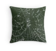 Web Jewels Throw Pillow
