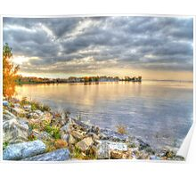 Sunset on the Ottawa River HDR Poster
