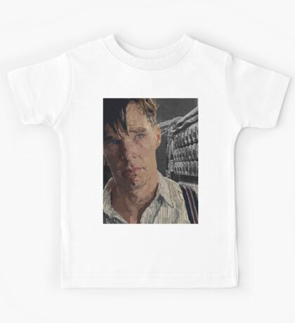 The Imitation Game - Benedict Cumberbatch Digital Portrait  Kids Tee