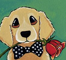 Dressed to Impress - Golden Retriever by Lisa Marie Robinson