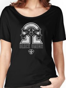 Babylon 5 - B5 - Black Omega - Starfury (Distressed) Women's Relaxed Fit T-Shirt