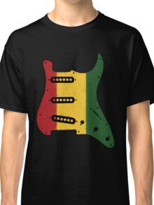 Reggae Rasta Guitar Pickguard  Classic T-Shirt