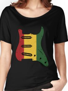 Reggae Rasta Guitar Pickguard  Women's Relaxed Fit T-Shirt